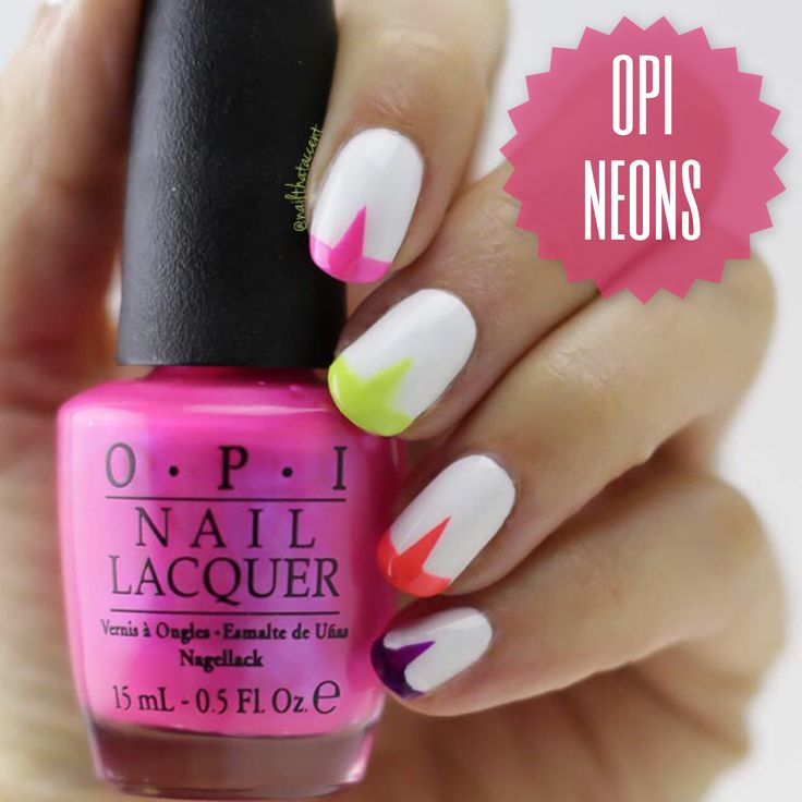 Neon French Tip Nail Designs: Best 25+ Neon French Manicure Ideas On Pinterest