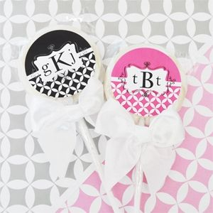 Mod Monogram Personalized Lollipop Favors created by Event Blossom.
