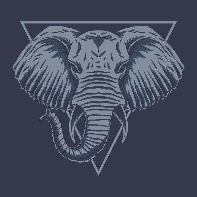 Elephant Head Vector Illustration Abstract Africa African Png And Vector With Transparent Background For Free Download In 2021 Vector Illustration Elephant Head Elephant