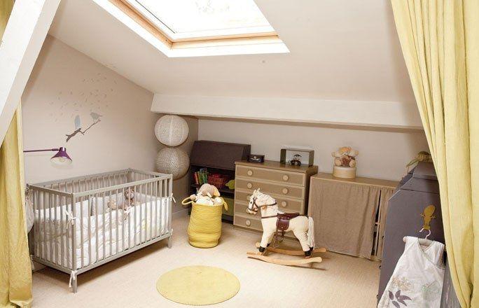 Une decoration pour chambre bebe et rendre la chambre plus lumineux gr ce a la fen tre au - Mobile bebe lumineux plafond ...