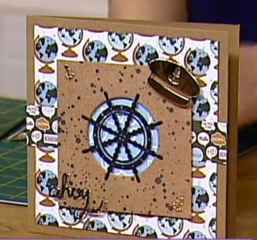 Hello Sailor! This handmade card was featured as a live demonstration tutorial on Create & Craft TV in October 2016. Watch the show video to see the demo which starts at 12:20. This handmade card uses Trimcraft's First Edition Nautical dies and Simply Creative Papers (Around the World / Kraft Keepsakes)