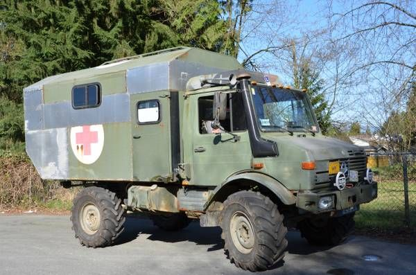 Craigslist Vancouver, B.C. 87 Unimog 1300L for sale Needs pads, one air valve to be rebuilt, hubs are seeping. Has : OM 366A 6L Turbo Diesel Fast axles XM-47s New gear reduction starter New batteries Rebuilt water pump Rebuilt