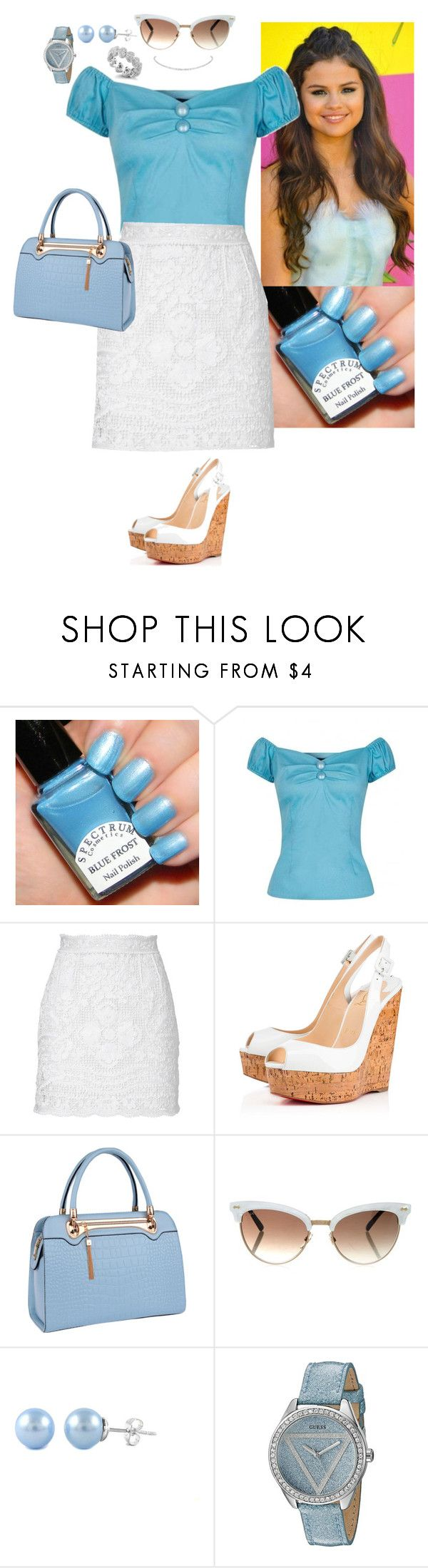 """""""Vintage Cinderella"""" by stinze on Polyvore featuring Collectif, Dolce&Gabbana, Dana Rebecca Designs, Christian Louboutin, Relaxfeel, Gucci, GUESS and vintage"""