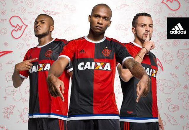Terceira camisa do Flamengo 2015-2016 Adidas Rio 450 abre
