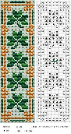 Free Cross Stitch Pattern - Irish bookmark