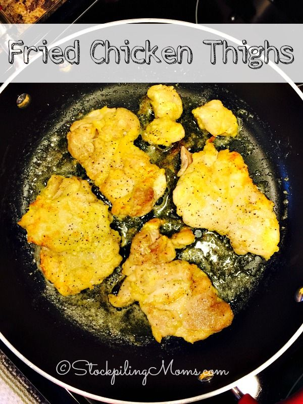 Fried Chicken Thighs recipe is an easy southern dinner meal to make! Be sure to try it, the whole family will love it.