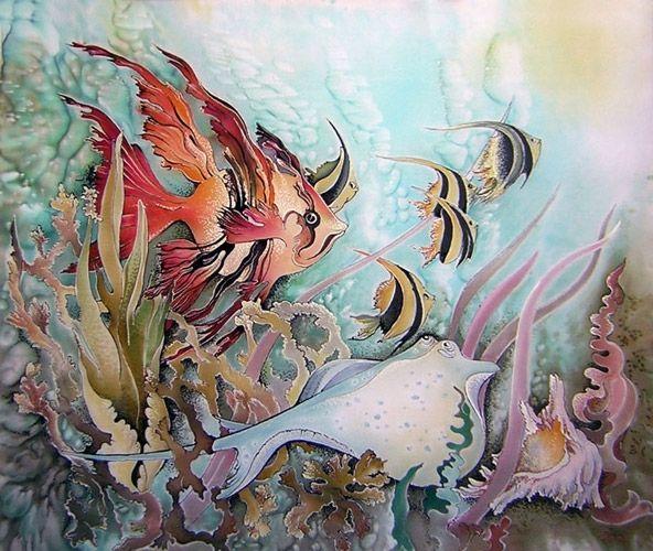 батик картинки морской мир