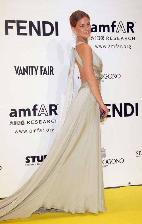 Bar Refaeli Silver Celebrity Dress amfAR's Inaugural Cinema Against AIDS Rome
