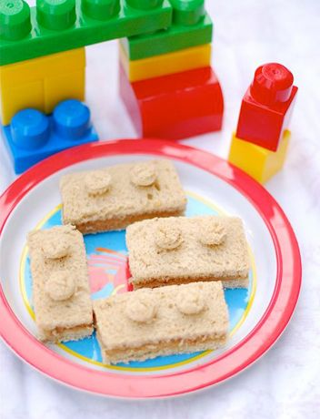 Peanut Butter Honey Lego Sandwich