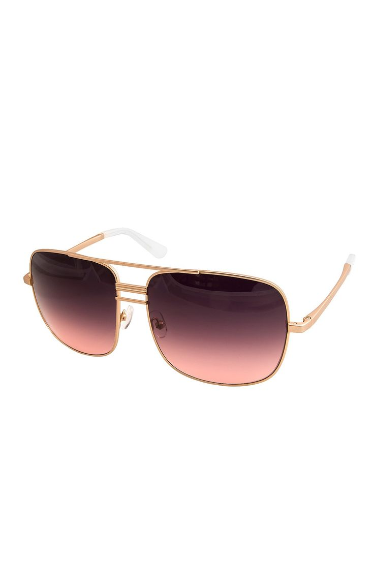Unisex Lia Oversized Aviator Sunglasses