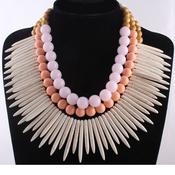 Luxury Bead Bib Statement Necklace $50