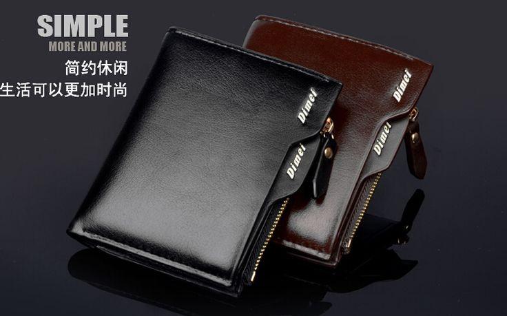 Высокое качество мужской кожаный бумажник краткое короткие мужчины кошельки сетки мужской кошельки монет сумка зажим для денег клатч кошельки