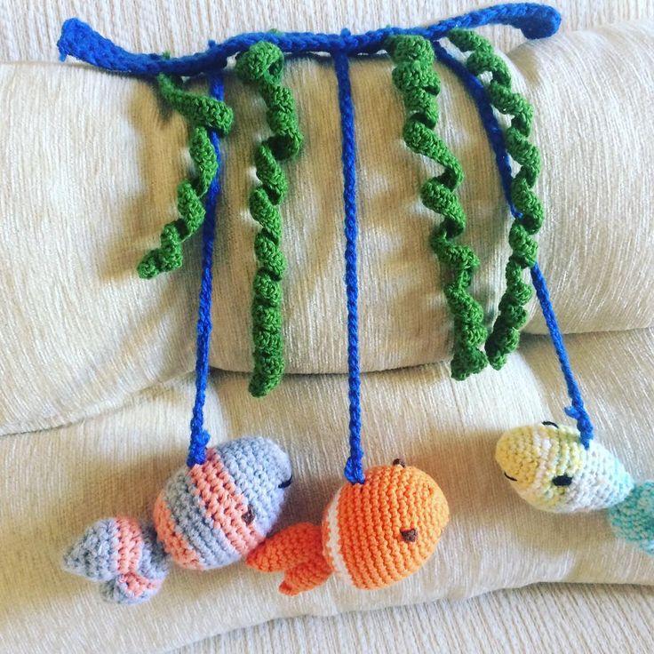 Móvil sonajero. Baby. Crochet. Amigurumi