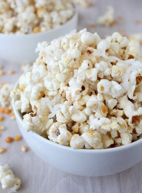 coconut popcorn.  You can't taste the coconut very strongly.  Just tastes like good kettle corn.  Yum!