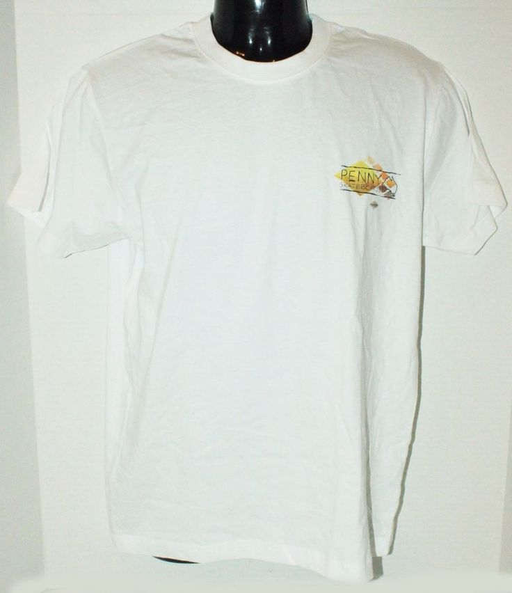 PENNY AUSTRALIA PLASTIC SKATEBOARD MEN XLARGE OR WOMEN WHITE XL SHIRT - FLAWED #Penny #GraphicTee