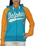 NFL MIAMI DOLPHINS Womens Athletic Warm Zip-Up Hoodie L Multicolor