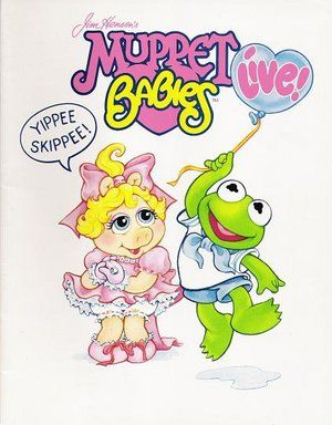 muppet babies Cartoon | The Muppets Christmas Baby Fozzie Bear & Miss Piggy 1987 Plush Doll ...