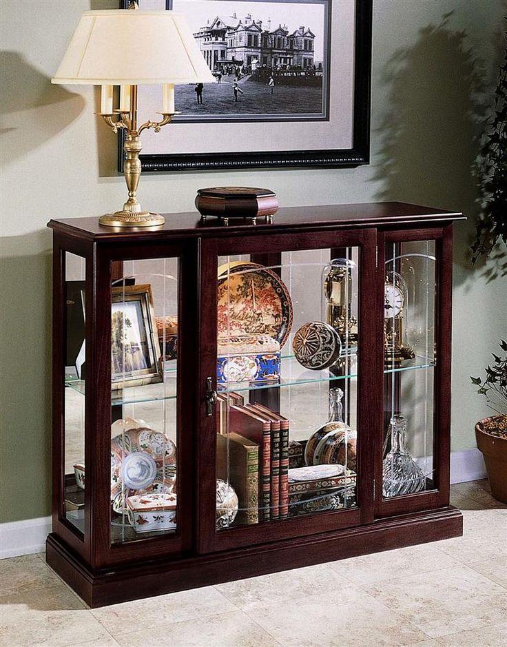 Unique Short Curio Display Cabinet