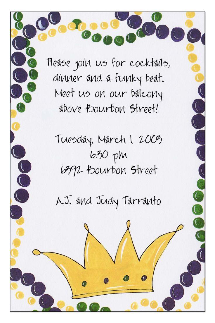 Mardi Gras Party Invitation Ideas Gallery - Party Invitations Ideas