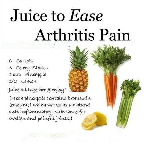 Juice to ease #Arthritis Pain ~ #vimvigorjuice - No. 04 and No. 10 both excellent juice choices for easing arthritis pain both have #antiinflammatory properties