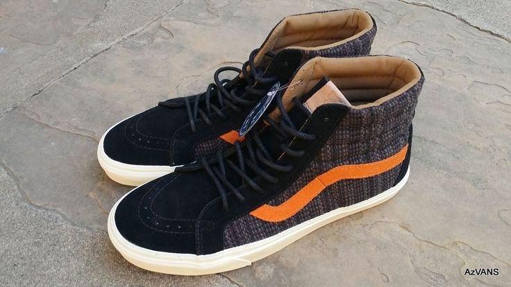 Vans Sk8 Hi Reissue CA Italian Weave Black Burnt Orange Men's size 11 NIB #VANS #FashionSneakers
