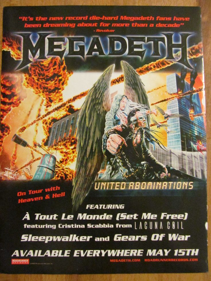 Megadeth, United Abominations, Full Page Promotional Ad