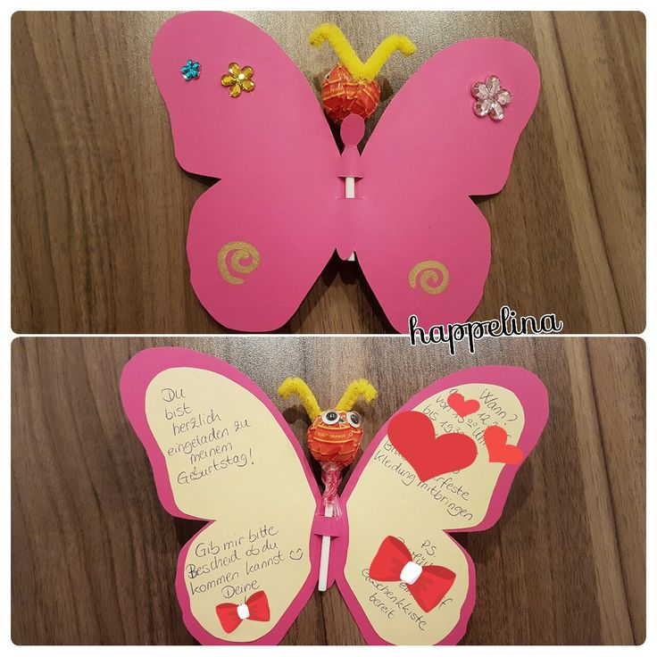 Inviti di compleanno farfalle