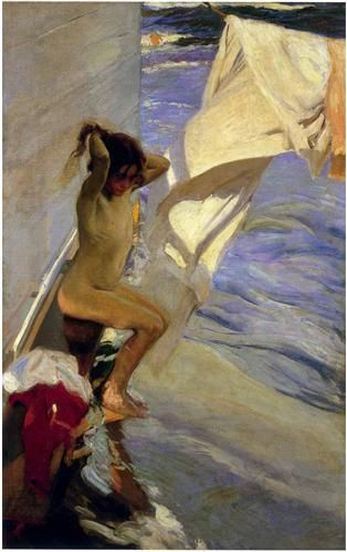 Before the Bath - Joaquín Sorolla - Completion Date: 1909