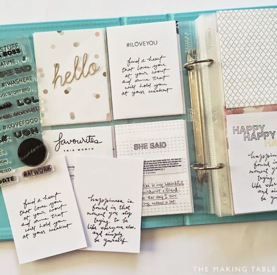The Making Table: Project Life. Scrapbooking. Memory Keeping.: PRINTABLE FREEBIES | Handwritten Quote Cards for Project Life