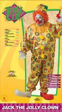 Jack The Jolly Clown adult circus party clowns plus size jumpsuit carnival fun $46.99