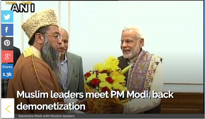"""Muslim leaders meet PM Modi, back demonetization """"Muslim leaders meet PM Modi, back demonetization - The delegation comprising of Muslim Ulemas, intellectuals, academicians called on PM Modi and congratulated him on the steps taken by the Union Government for inclusive growth, socio-economic and educational empowerment of all sections of the society including minorities. Get Narendra Modi's & BJP's latest news and updates with - http://nm4.in/dnldapp Download Now."""