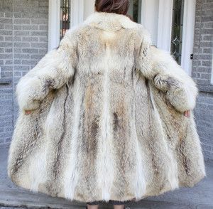 Old Mink Coats for Sale | Beautiful Vintage COYOTE FUR COAT Size 8 ...