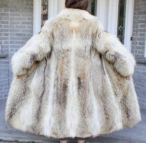 Old Mink Coats for Sale | Beautiful Vintage COYOTE FUR COAT Size 8 ...