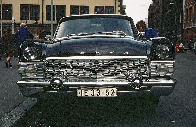 GAZ 13 Chaika Limo | 1977 | by Altwein-album | > Kom Czajka | ⍇ DDR in color 750