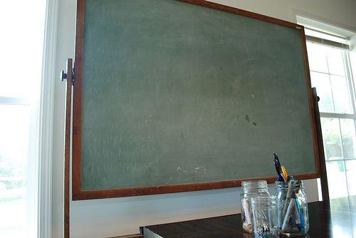 ...blackboard.Dining Room, Vintage Chalkboards, Kitchens Wall, Vintage Wardrobe, Vintage Schools, A Frames, Vintage Schoolhouse, Schoolhouse Chic, Kids Study