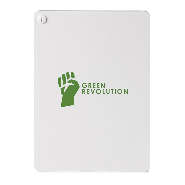 EC524 ZOLA STONE PAPER NOTEBOOK - Durable TREE-FREE product made from stone with no wood pulp, no tree cutting, no water or air pollution... - Silk Screened Imprint or 4 Color Process Option.