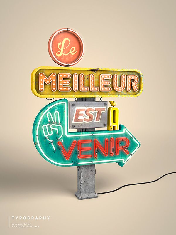 3d typography by Romain Toffoli