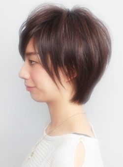 Short Japanese Boyish hairstyle [side view]