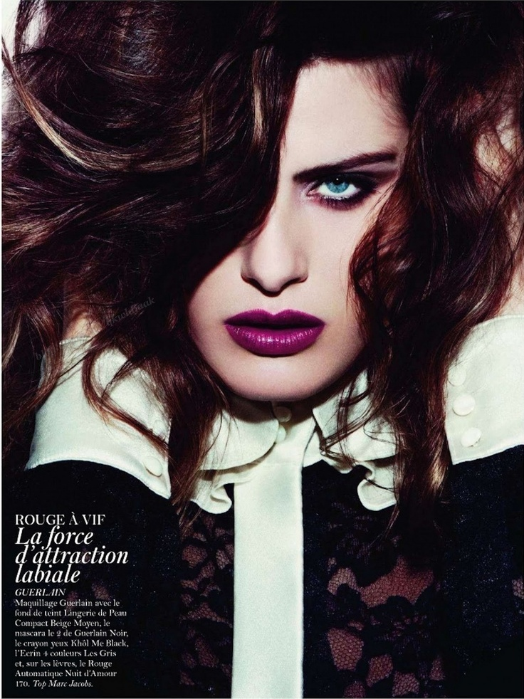 LIPSTICK: Isabeli Fontana, Beautiful Inspiration, Paris November, Vogue Paris, November 2011, Makeup, Covers Girls, Fashion Editorial, Beautiful Lips