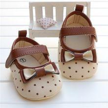Meisje eerste wandelaar schoenen pasgeboren peuter meisje strik boog stip soft sole kinderwagen schoenen sapatos infantil calzado ninas(China (Mainland))