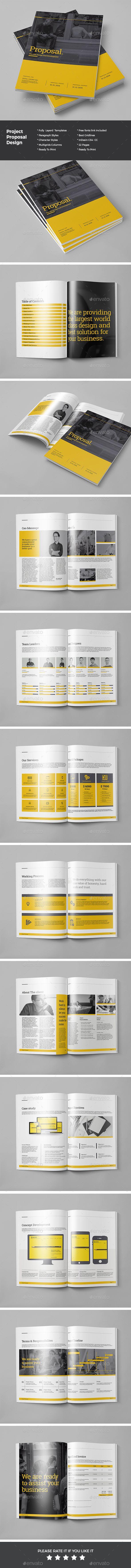 Proposal Template InDesign INDD #design Download: http://graphicriver.net/item/proposal/14419205?ref=ksioks