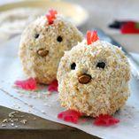 Kycklingmuffins  http://www.dansukker.se/se/recept/kycklingmuffins.aspx  Söta små påskkycklingar #muffins #easter