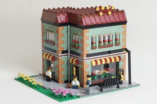 LEGO Set MOC-3906 Modular Flower Shop - building instructions and parts list. Theme: Modular Buildings; Year: 2015; Parts: 1523; Tags: moc modular buildings