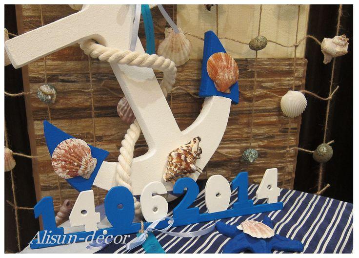wedding date, anchor, fishing net