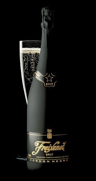 """Cordon Negro Brut is Freixenet's most popular cava, often referred to as the """"Black Bottle Bubbly."""" It is the #1 imported sparkling wine in the world."""