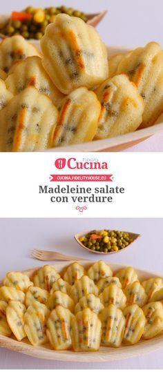 Madeleine salate con verdure