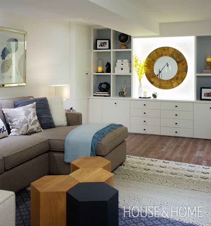Designer Basements: 57 Best Images About Basement Design & Decorating Ideas On