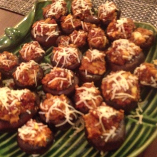 Sun-dried Tomato & Gorgonzola Stuffed Mushrooms... My favorite recipe ...