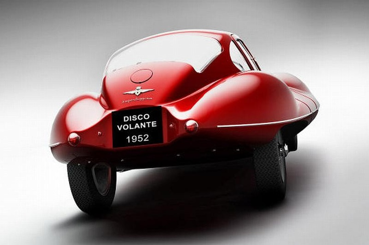 1952 Alfa Romeo Disco Volante | More here: http://mylusciouslife.com/stylish-home-luxury-garage-design/