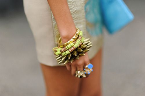 Spikes and studs.: Bracelet, Arm Candy, Fashion, Style, Armcandy, Jewelry, Accessories, Arm Candies